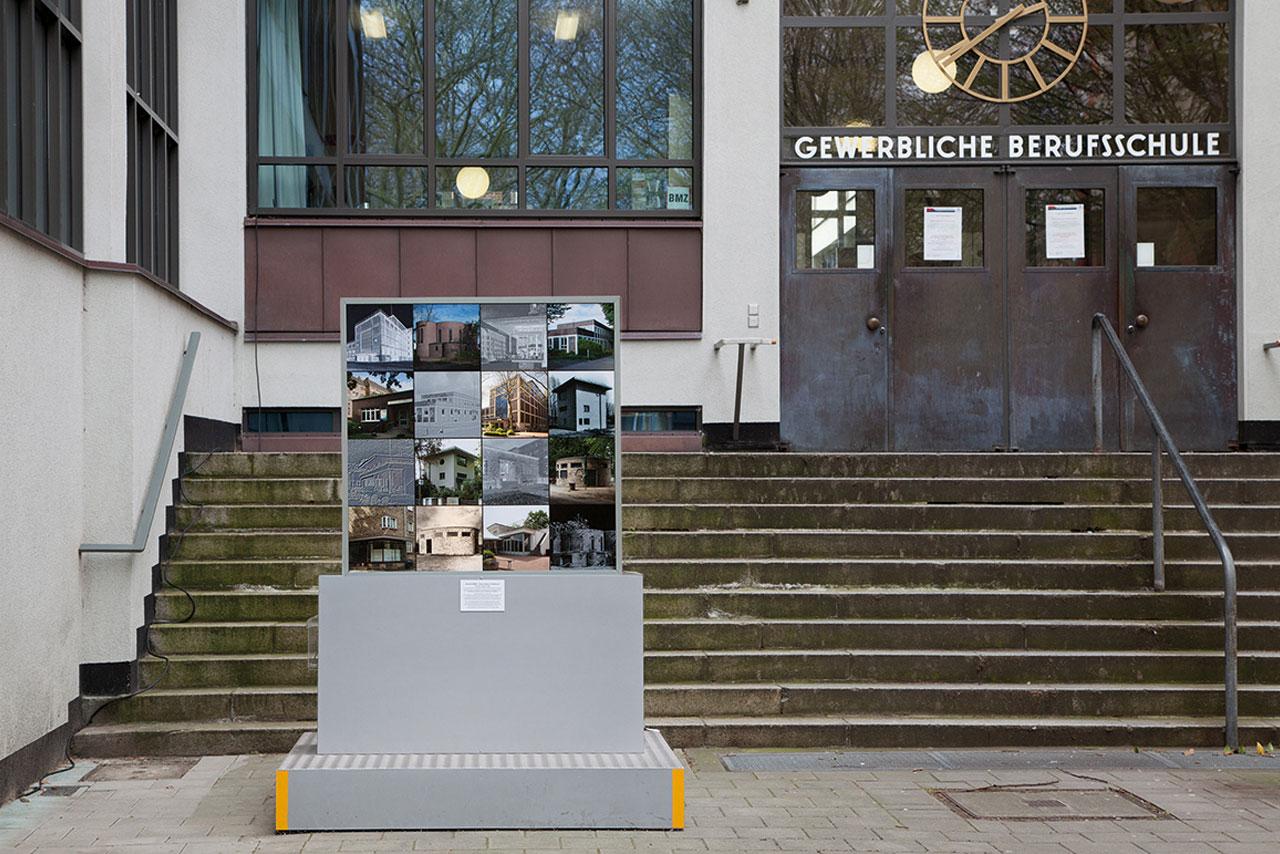 Foto-Licht-Kunstwerk 'memory effekt' zur Architektur des 'Neuen Bauens in Altona'